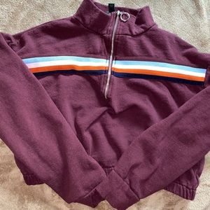 Cropped Zip-Up Sweater